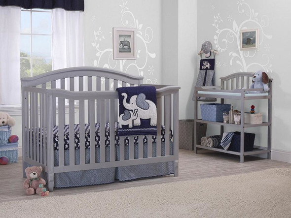 Sorelle Berkley Crib in Gray