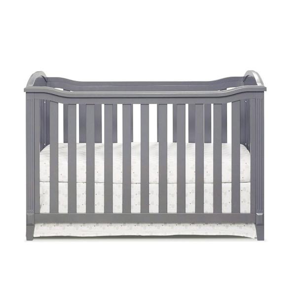 Sorelle Berkley 2 Piece Nursery Set - Double Dresser and Classic Crib in Gray