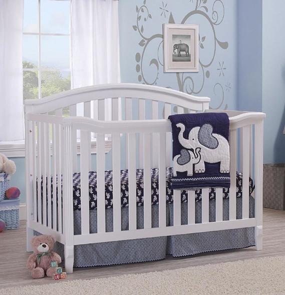 Sorelle Berkley 3 Piece Nursery Set in White (4 in 1 Crib)