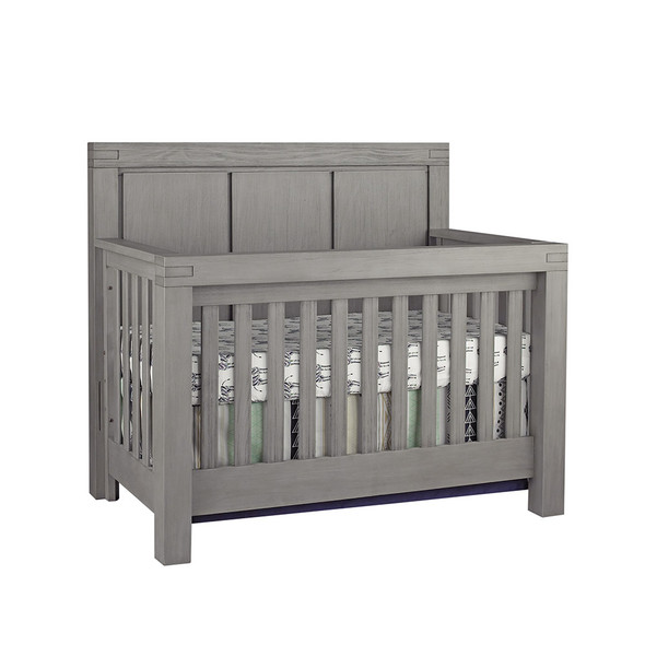 Oxford Baby Piermont Collection 2 Piece Nursery Set - Convertible Crib & 7 Drawer Dresser in Rustic Stonington Gray