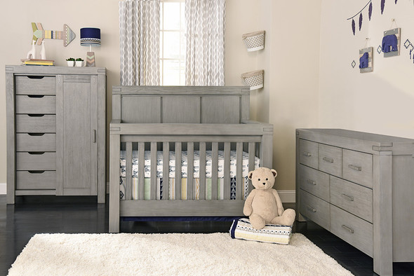 Oxford Baby Piermont Collection 3 Piece Nursery Set in Rustic Stonington Gray