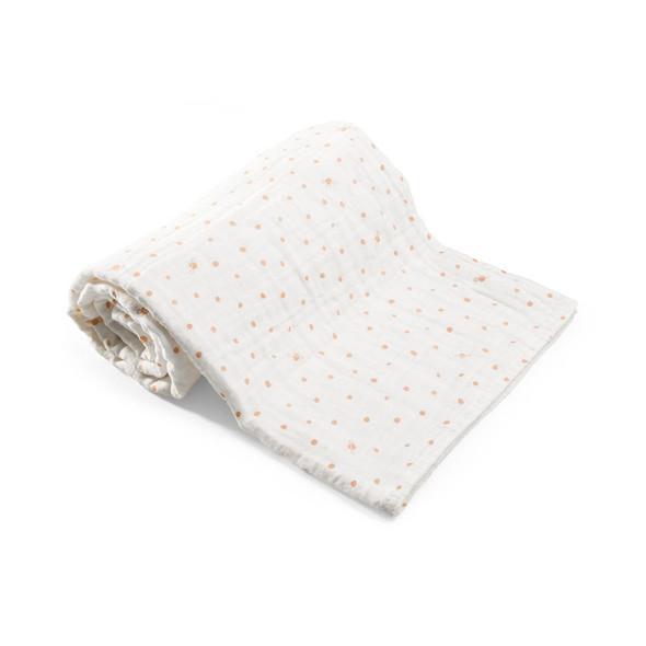 Stokke Blanket Muslin Cotton in Coral Bee
