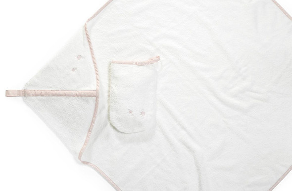 Stokke Hooded Towel in Pink Bee