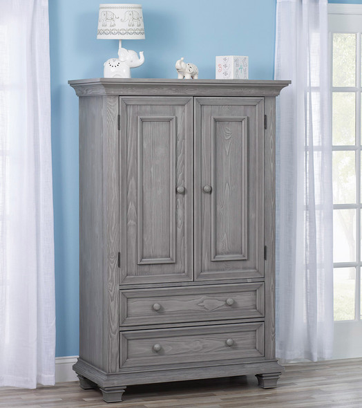 Oxford Baby Westport Collection Armoire in Dusk Gray
