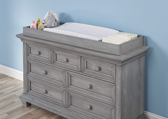 Oxford Baby Westport Collection Changing Topper in Dusk Gray
