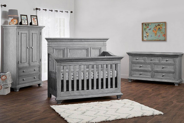 Oxford Baby Westport Collection 3 Piece Nursery Set in Dusk Gray