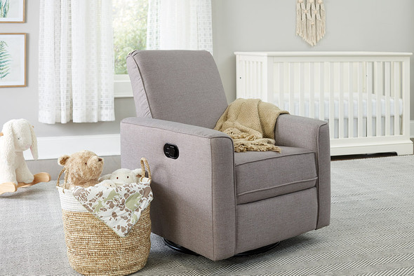 Westwood Aspen Swivel and Manual Reclining Glider in Sand