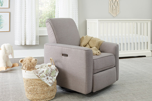 Westwood Aspen Swivel and Power Reclining Glider in Sand
