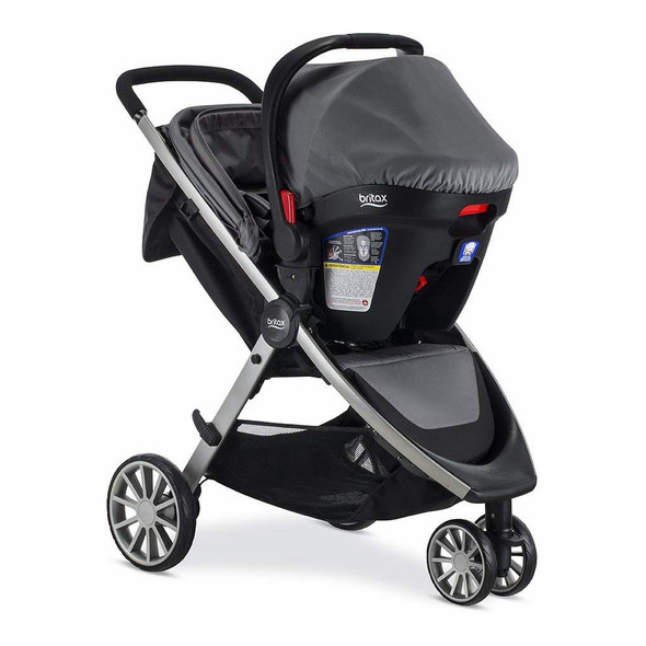 Britax B-Lively & B-Safe Ultra Travel System in Gris