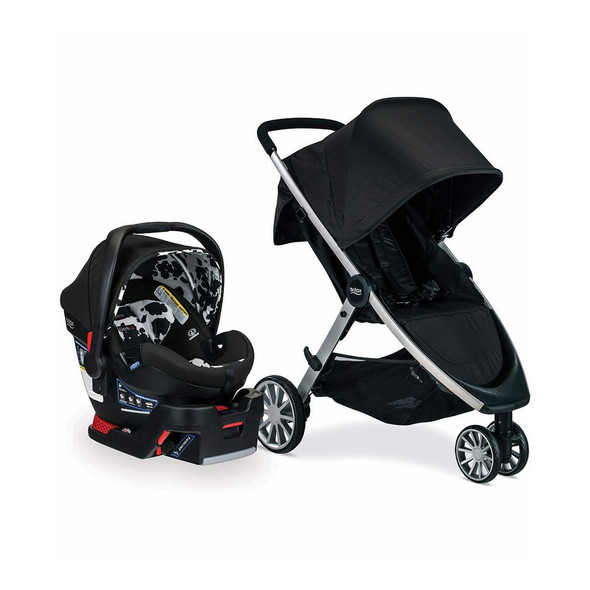 Britax B-Lively & B-Safe Ultra Travel System in Cowmooflage