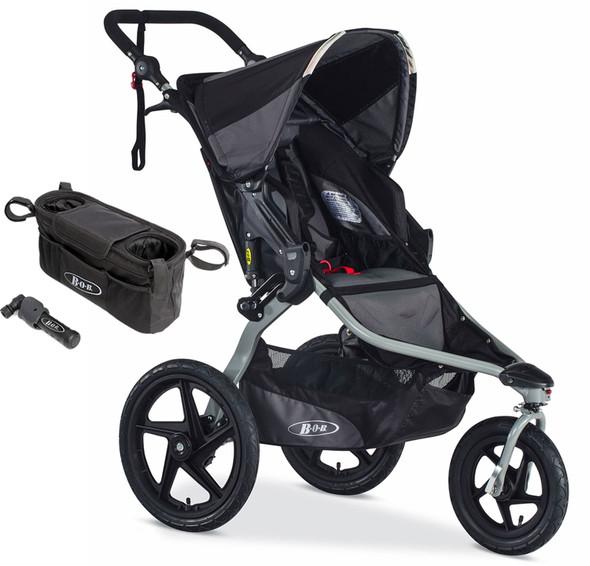BOB Revolution Flex Single Stroller Bundle in Black