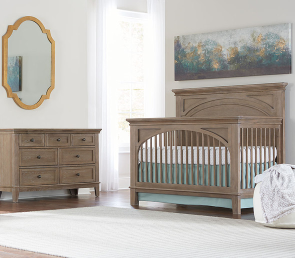Westwood Leland 2 Piece Nursery Set - Crib and 6 Drawer Dresser in Sandwash