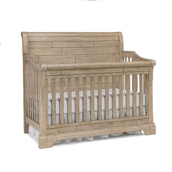 Cosi Bella Delfino 2 Piece Nursery Set Crib and Double Dresser in Farmhouse Pine