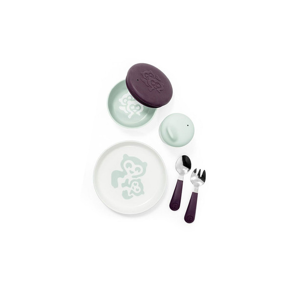 Stokke Munch in Everyday Soft Mint(Bowl, Cup, Plate, Fork & Spoon)