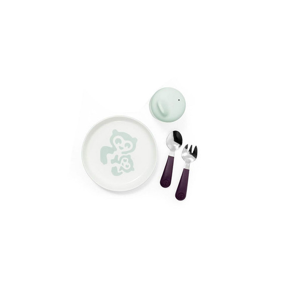 Stokke Munch in Essentials Soft Mint(Cup, Plate, Fork & Spoon)