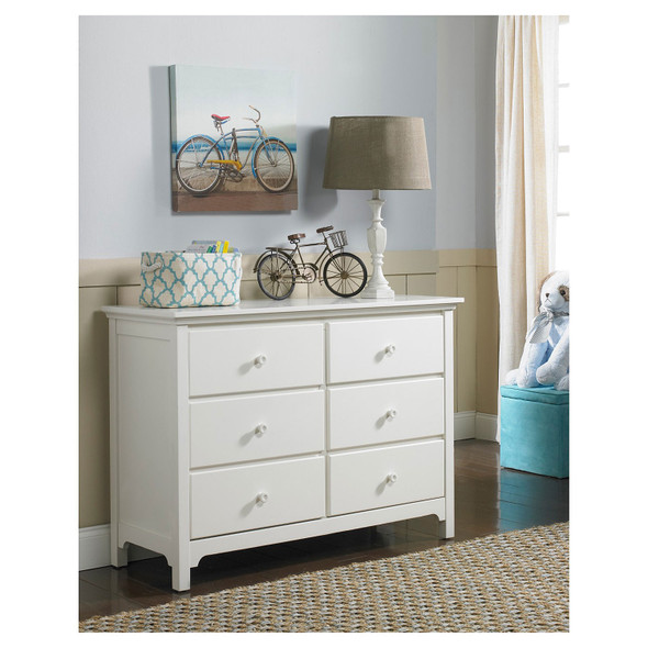 Ti Amo 3000 RTA Series Furniture RTA Double Dresser in Snow White