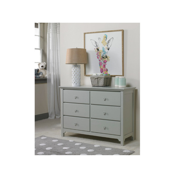 Ti Amo 3000 RTA Series Furniture RTA Double Dresser in Misty Grey