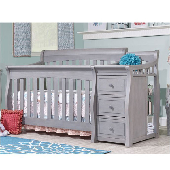 Sorelle Princeton Elite Crib & Changer in Weathered Gray
