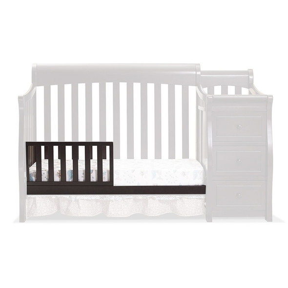 Sorelle Princeton Elite Crib & Changer Toddler Rail in Espresso