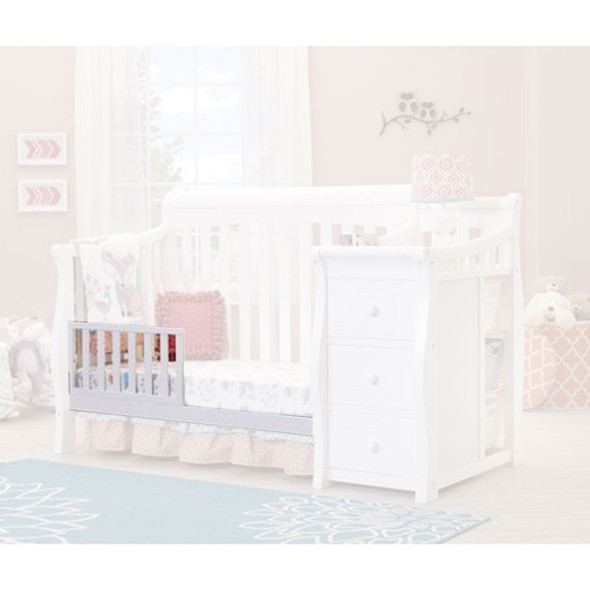 Sorelle Princeton Elite Crib & Changer Toddler Rail in White
