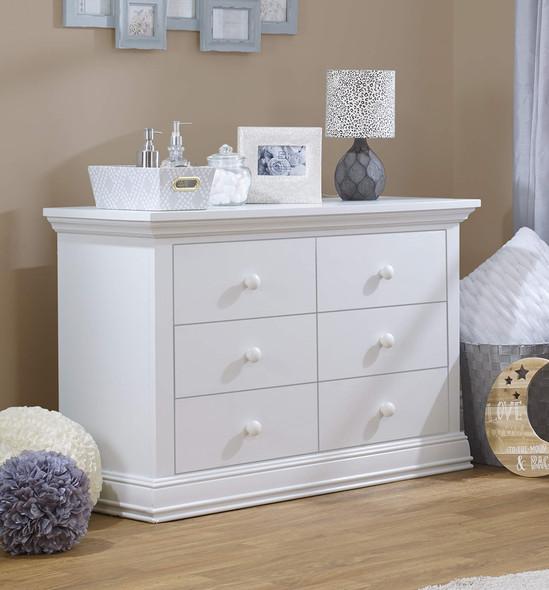 Sorelle Paxton Double Dresser RTA in White