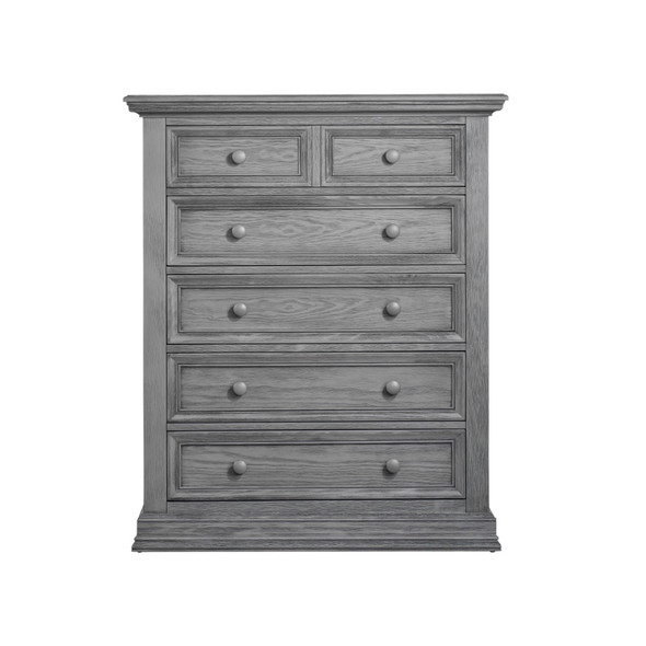 Oxford Baby Glenbrook Collection 5 Drawer Chest in Graphite Gray