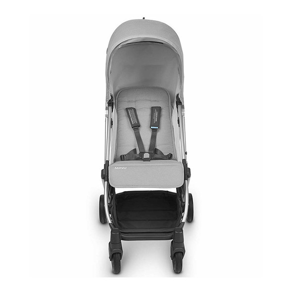 Uppa Baby MINU Stroller in Devin (Light Grey Melange/Silver/Chestnut Leather)