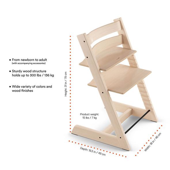 Stokke TRIPP TRAPP Chair in Oak Black
