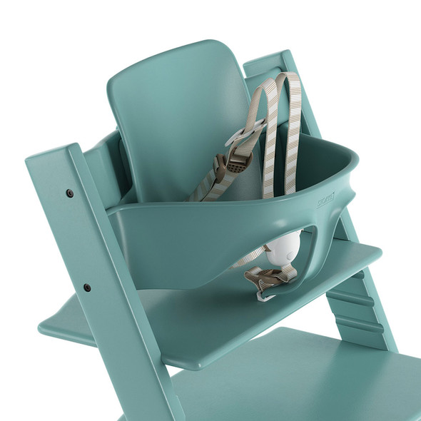 Stokke TRIPP TRAPP Baby Set with Harness and Extended Glider in Aqua Blue