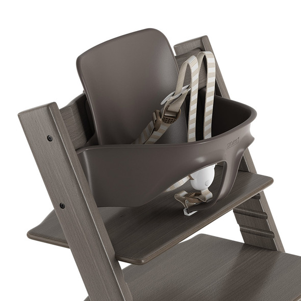Stokke TRIPP TRAPP Baby Set with Harness and Extended Glider in Hazy Grey