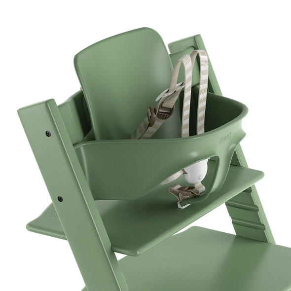 Stokke TRIPP TRAPP Baby Set with Harness and Extended Glider in Moss Green