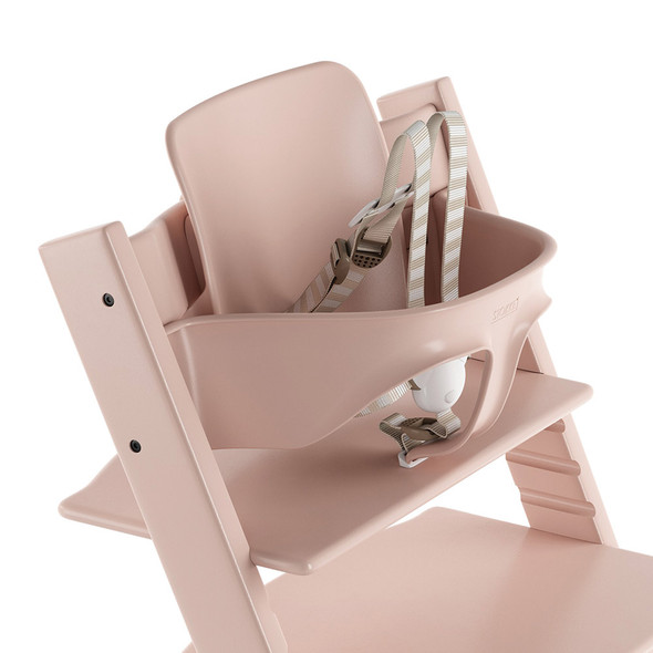 Stokke TRIPP TRAPP Baby Set with Harness and Extended Glider in Serene Pink