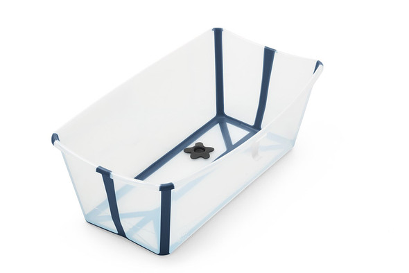 Stokke Flexi Bath Tub in Transparent Blue-1