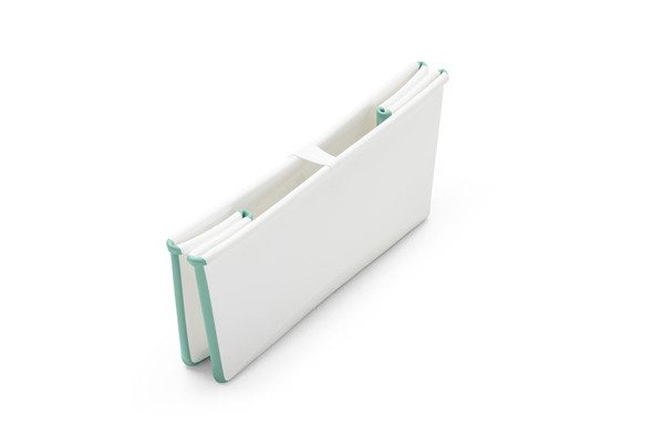 Stokke Flexi Bath Tub in White Aqua-1