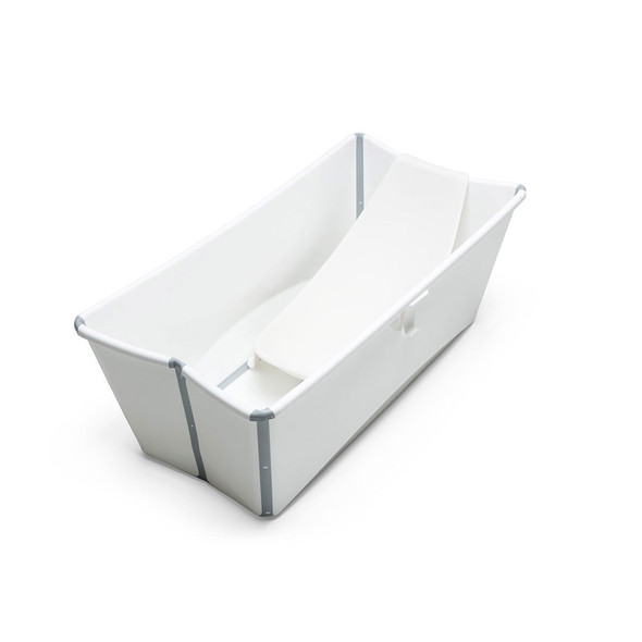 Stokke Flexibath Bundle, Tub with Newborn Support in White