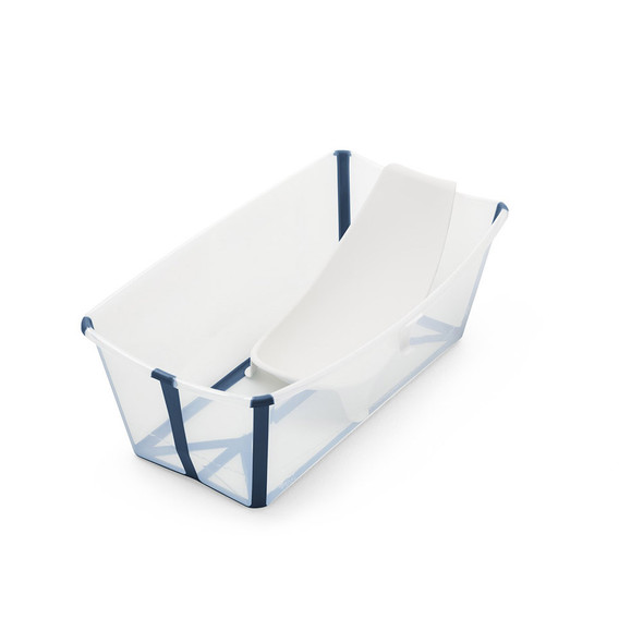 Stokke Flexibath Bundle, Tub with Newborn Support in Transparent Blue