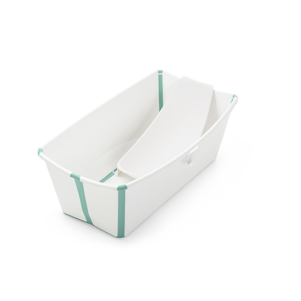 Stokke Flexibath Bundle, Tub with Newborn Support in White Aqua