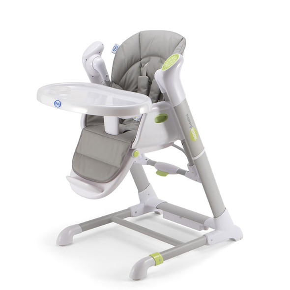Pali Pappy Rock High Chair and Swing in Pearl Gray