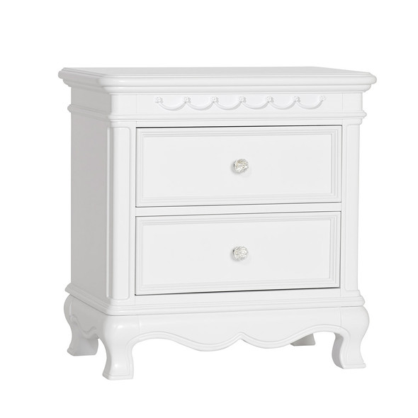 Baby Cache by Heritage Adelina Nightstand in Pure White