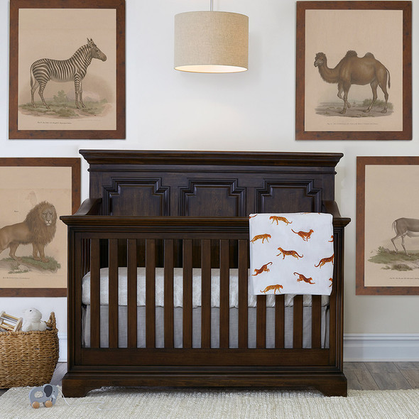 Biltmore by Heritage Amherst 2 Piece Nursery Set in Burnt Oak - 6dr Chest and Crib