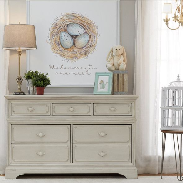 Biltmore by Heritage Amherst 7Dr Dresser in Antique White