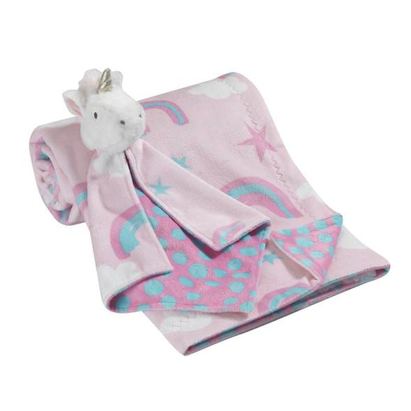 Lambs & Ivy Designer Blankets Blanket w/Lovey - Unicorn