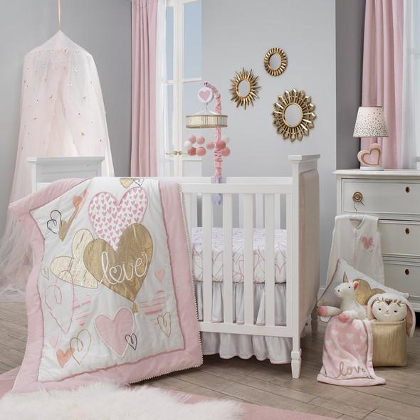 Lambs & Ivy Layla 4-Piece Bedding Set