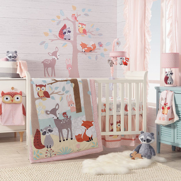 Lambs & Ivy Little Woodland 4-Piece Bedding Set