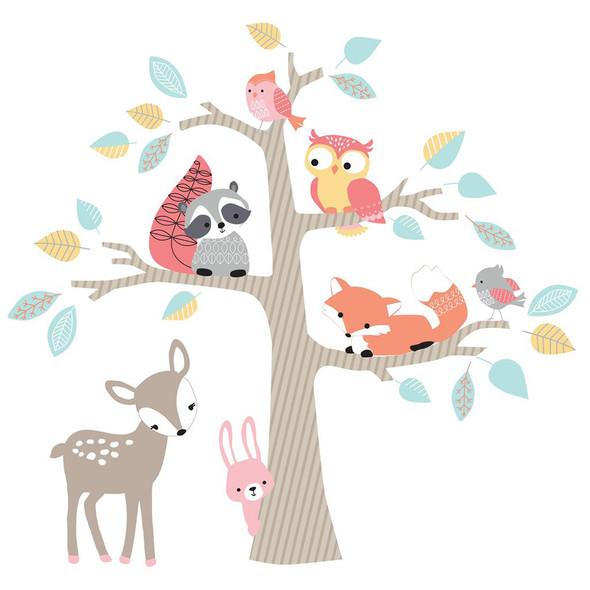 Lambs & Ivy Little Woodland Wall Appliques - Jumbo