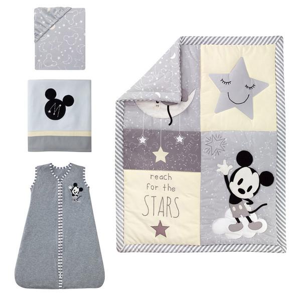 Lambs & Ivy Mickey 4-Piece Bedding Set