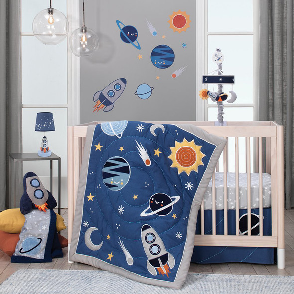 Lambs & Ivy Milky Way 4-Piece Bedding Set