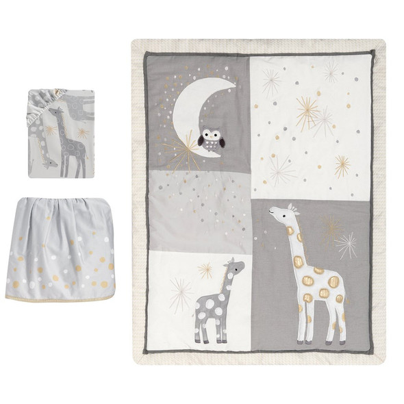 Lambs & Ivy Moonbeams 3-Piece Bedding Set