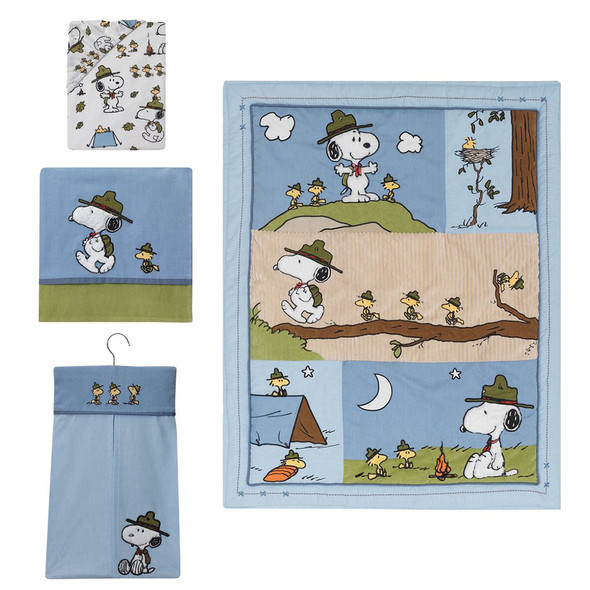 Lambs & Ivy Snoopy's Campout 4-Piece Bedding Set