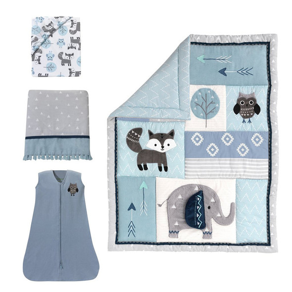 Lambs & Ivy Stay Wild 4-Piece Bedding Set